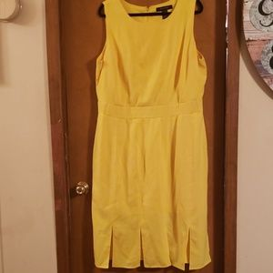 18W Ashley Stewart Yellow dress